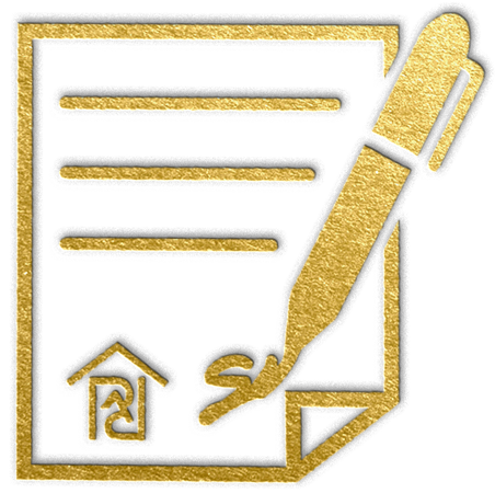 gold icon depicting a contract